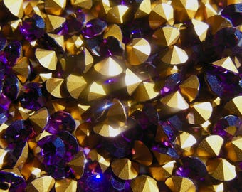 Swarovski 1100 Amethyst Foiled 29ss Vintage Crystal Chatons  6 or 12 Pieces
