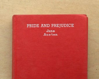 vintage Pride and Prejudice by Jane Austen, 1950s book