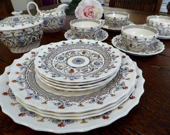 vintage copeland spode florence 18 pieces china florence copeland spode china group cups saucers plates