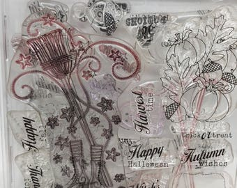 5 sets of Papertrey Ink stamps with die cuts, used PTI stamps for cards and journals