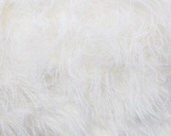 Plush Faux Fur Throw Blanket Bedspread - Mongolian white