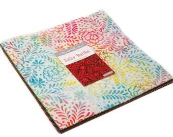 Salsa batik cotton 10 inch squares layer cake by Moda fabric