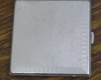 RESERVED vintage tooled metal cigarette case