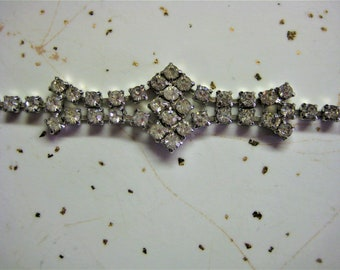 Vintage Clear Rhinestone Bracelet