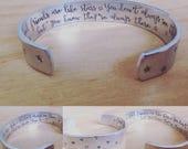 Good friends are like stars... cuff bracelet...
