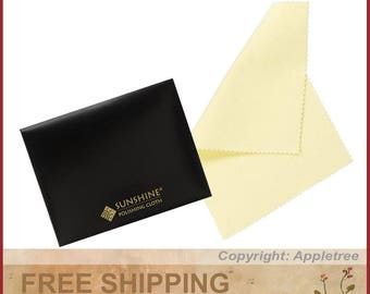2 Sunshine Polishing Cloths for Sterling Silver, Gold, Brass and Copper Jewelry in Envelopes