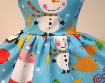 Merry in the North Pole, Sleeveless Dress for your 18 Inch Doll A