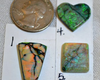 Sterling Opal cabochons 1, 4, 5 each sold separately