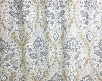 Amethyst Brussels. Curtain Panels. All Sizes. Decorative Window Treatments. Drapery Curtains. Blue Curtains. Taupe Curtains.