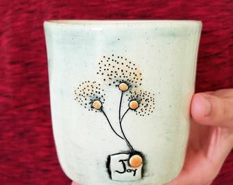 JOY-  Encouraging Tumbler & Orange Trees | SEEDS Collection | Inspirational Cup | #SEEDSW5CUP-J