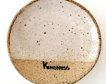 KINDNESS Mini-Dishes |Rustic Tea Bag Holder | Inspirational Gifts | Stoneware Favors | #SDMINI3-L