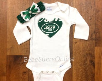 New York Jets Bodysuit AND Headband