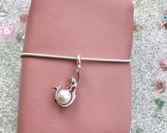 Mermaid Pearl Charm Dangle Keychain