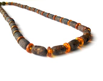 Baltic Amber Necklace for Man Natural Raw Baltic amber