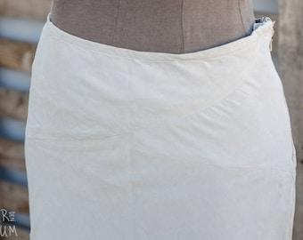 90's Linen Maxi skirt - Beige High waisted skirt - Ally Capellino Brand