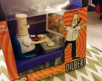 Dilbert Candy Dispenser, Vintage Collectible Candy Dispenser, Dilbert Figurine in Original Box, Dilbert Collectible, Collectible Figurine