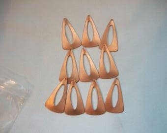 Long Triangle Copper Shapes Set of 10