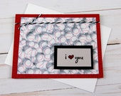 I Love You Card - Baseball Themed Greeting Card
