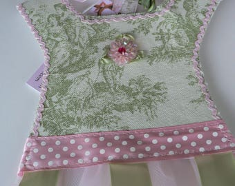 Green Toile Barrette Holder