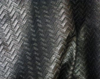 """Leather 12""""x12"""" PEWTER Shimmer ZIG ZAG Embossed Cowhide 2.5-2.75 oz/ 1-1.1 mm PeggySueAlso™ E1120-01 Full hides available"""