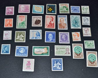 Canada 57 Mint stamps 1950-1970