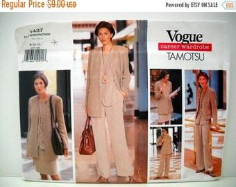 Stash-Busting 50% off Vogue 1437 UNCUT - Career Wardrobe by Tamotsu Jacket Vest Top Skirt and Pants