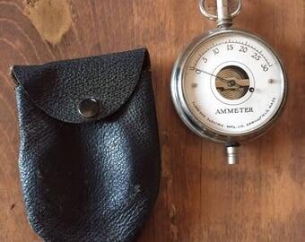 Antique Ammeter Gauge  Eldredge Electric MFG. CO. Springfield Massachusetts