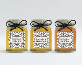 5 Ramadan Mubarak Stickers (Size 2 inches X  2 inches)