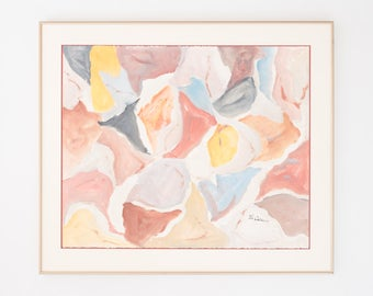 Vintage Abstract Floral Watercolor Painting