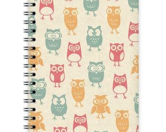 Notebook A6 - Owl Pattern