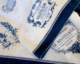 French Label white cotton tablecloth