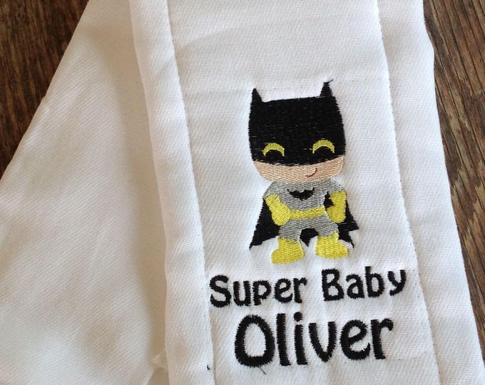 Personalized Burp Cloth, Baby Gift, burp rag, New Baby Gift, embroidered baby burp cloth, baby bib, baby shower gift, personalized gift