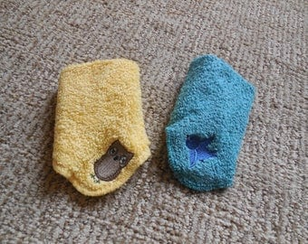 EMBROIDERED BABY WASHCLOTH Set of Two