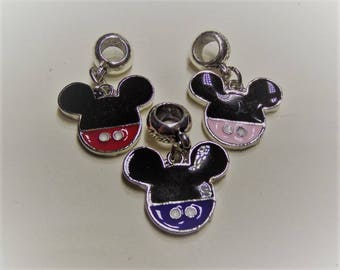 17mm. 2CT. Mickey Inspired charms, Y62