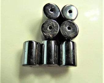 8mm*6mm, 24CT,  Gun Metal Grey Magnetic Beads, M27