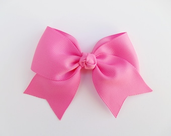 Hot Pink Hair Bows - Bright Pink - Solid Color Hair Bows