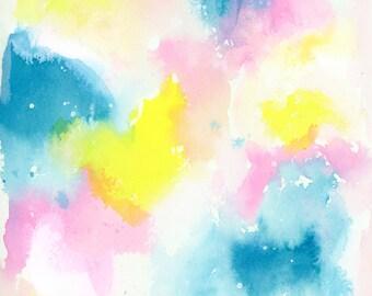 Original Watercolor Painting, Abstract, Fine Art, Floral, Modern Art, Minimalist, Abstract Art, Bohemian