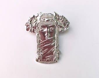 Veiled Woman Brooch