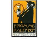 Vintage Art nouveau poster - by Kolo Moser -  retro poster print - Art nouveau print, P007