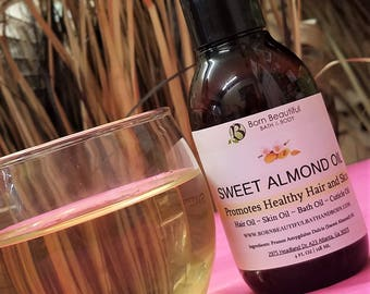 Sweet Almond Oil - Natural Hair Oil - Natural Skincare - Carrier Oil - Bath and beauty -  Natural Oil