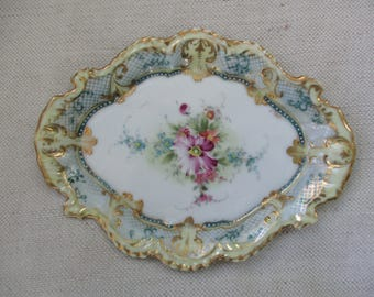 Antique Hand-Painted Nippon Porcelain dish ~ utterly charming