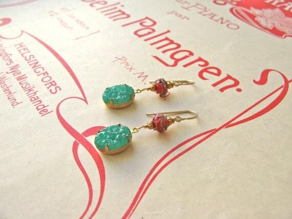Exotica midi red earrings...