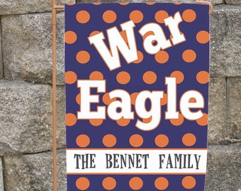 Custom Auburn Yard Flag War Eagle Garden Or House Flag Personalized Family  Name