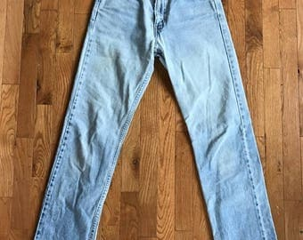 1980s Light Wash Levis 505 Orange Tab Jeans 27