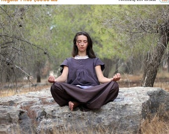 ON SALE Comfy Meditation Harem pants, Women's Drop Crotch Trousers, Regular, Tall, Plus size, Custom Made