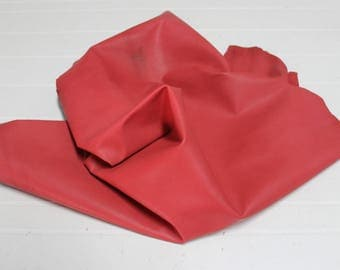 Italian Gaotskin Goat leather skin hide skins hides UNFINISHED RED 5sqf #A2597