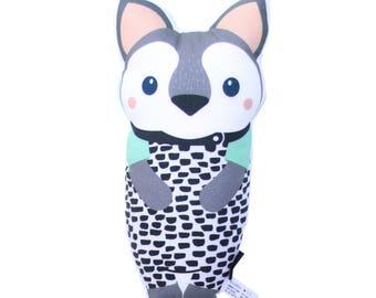 Wolf Softie - Pillow, Nursery, Plush