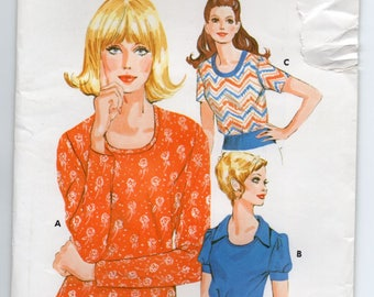 Pullover Top Without Bust Darts Scooped Neckline Self Fabric Edging At Neckline Size 14 16 18 Sewing Pattern Kwik Sew 531