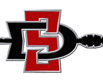 San Diego Aztecs Embroidered Iron On Patch