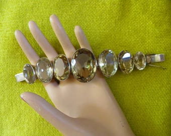 Huge, Hunky, Bold Quartz Couture Bracelet.